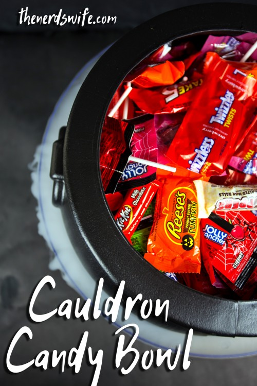 Witches Cauldron Candy Bowl