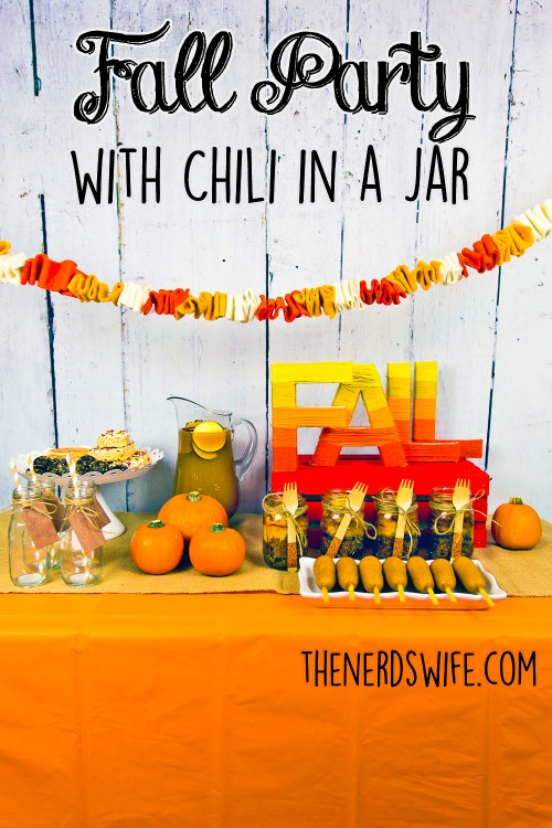 Fall Party with Chili in a Jar