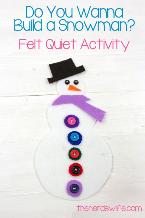 Build a Snowman Felt Quiet Activity