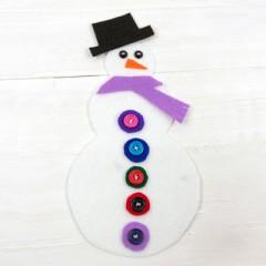 Build a Snowman Felt Quiet Activity