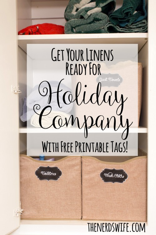 Get Linens Ready for Holiday Company