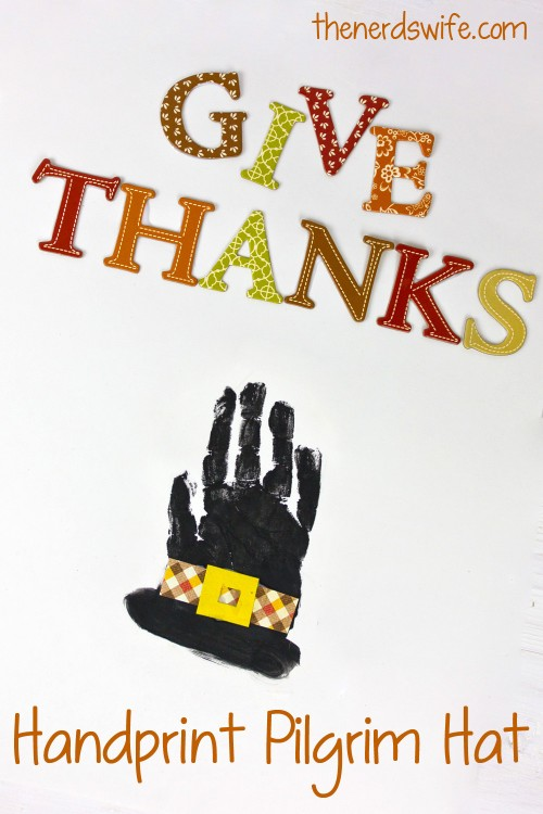 Pilgrim Hat Handprint Art
