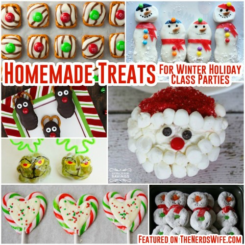 Homemade Class Treats for Winter Holiday Parties