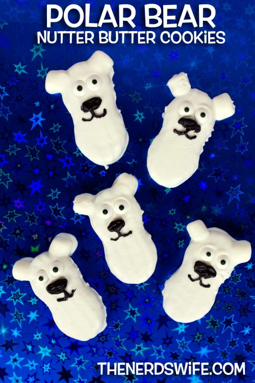 Polar Bear Nutter Butter Cookies