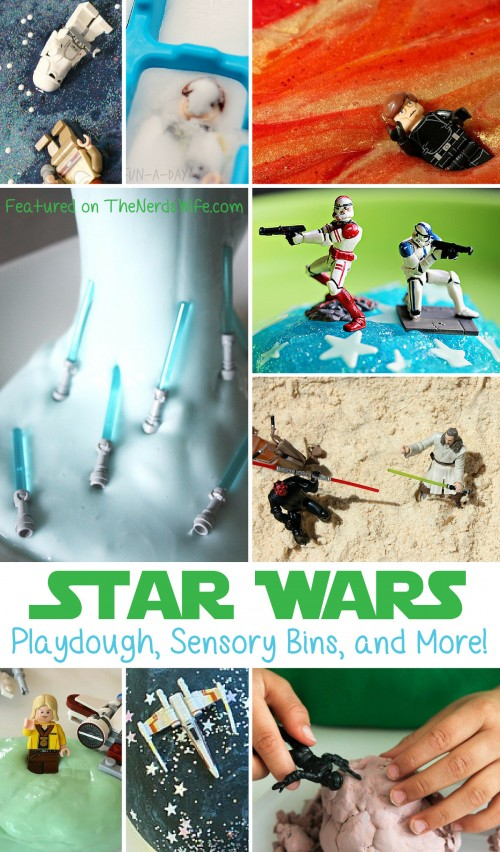 Star Wars Playdough, Sensory Bins, and more
