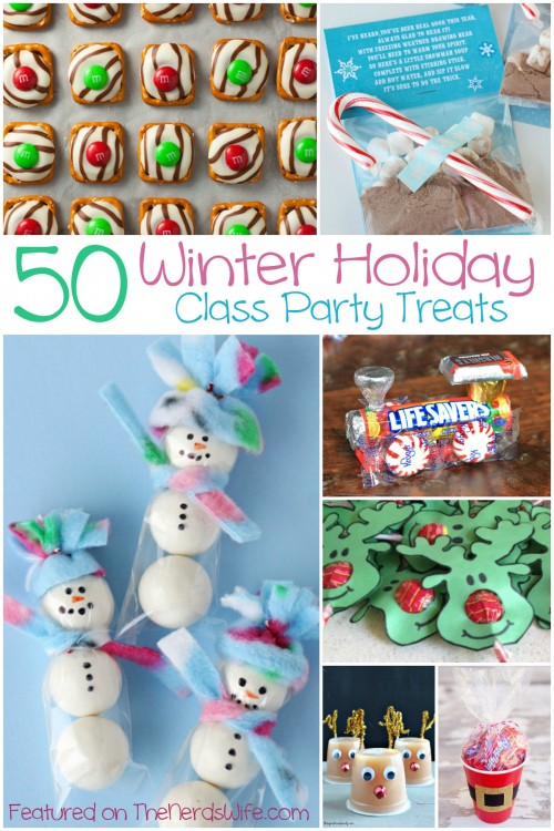 Classroom Party Ideas ~ Winter holiday class party treats
