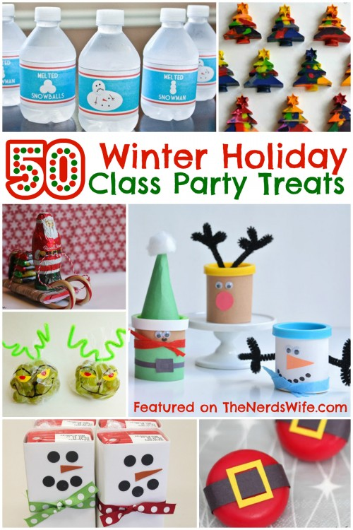 Classroom Birthday Party ~ Winter holiday class party treats