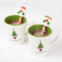 Hot Chocolate Peppermint Sticks