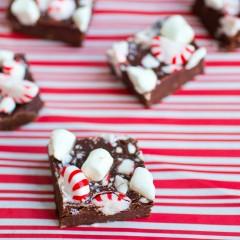 Mint Chocolate Pudding Fudge Square