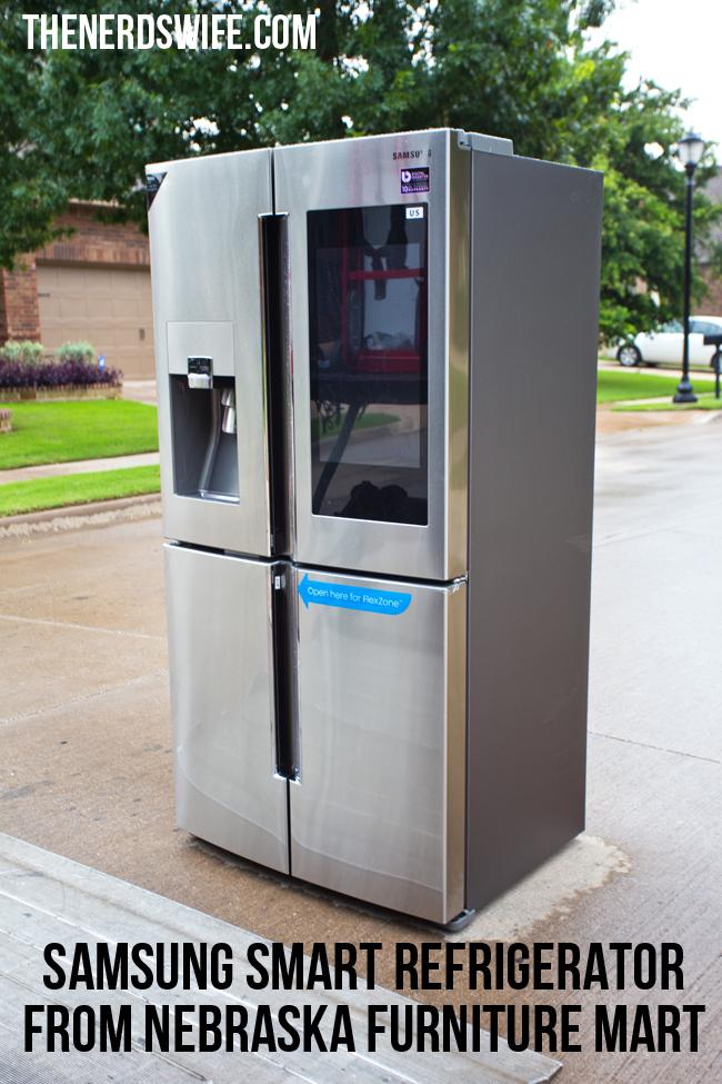 Samsung Smart Refrigerator from Nebraska Furniture Mart
