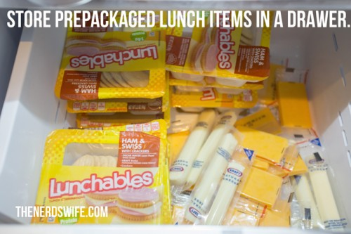 Kid Friendly Snack Zone Lunch Items