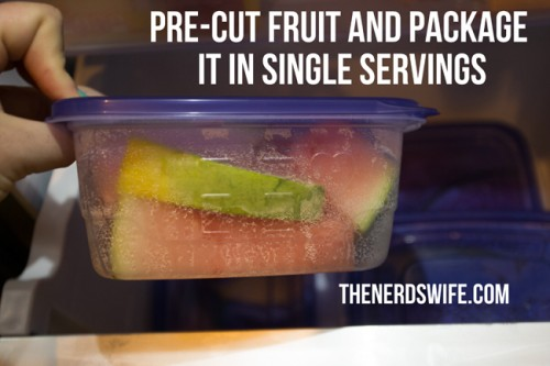 Precut Fruit in Single Servings
