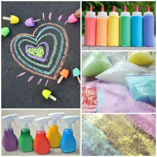 Sidewalk Chalk Recipes