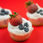 Summer Berry Ice Cream Cupcakes