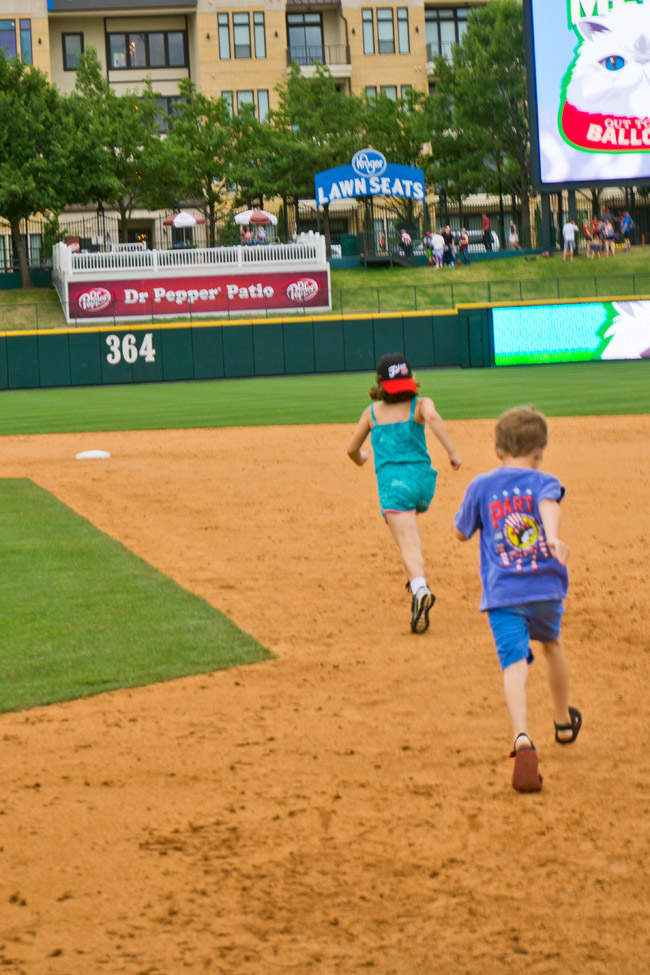 Running Bases at Frisco RoughRiders Game