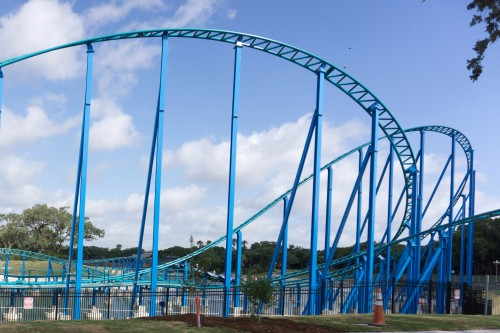 A Look at Wave Breaker The Rescue Coaster at Sea World San Antonio