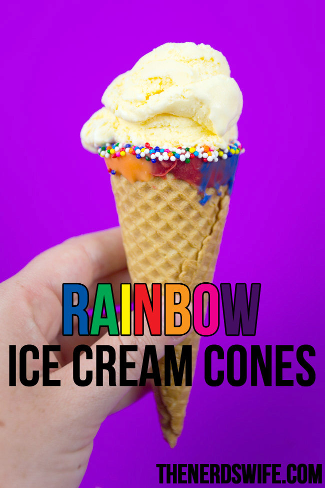 Rainbow Ice Cream Cones