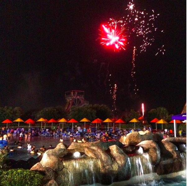 Hawaiian Falls Fireworks