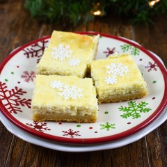 Sugar Cookie Cheesecake Bars Square