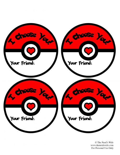 Pokeball Valentine's Cards