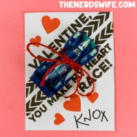 Printable Race Car Valentines