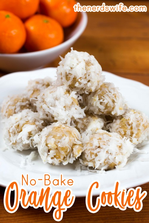 No Bake Orange Cookies